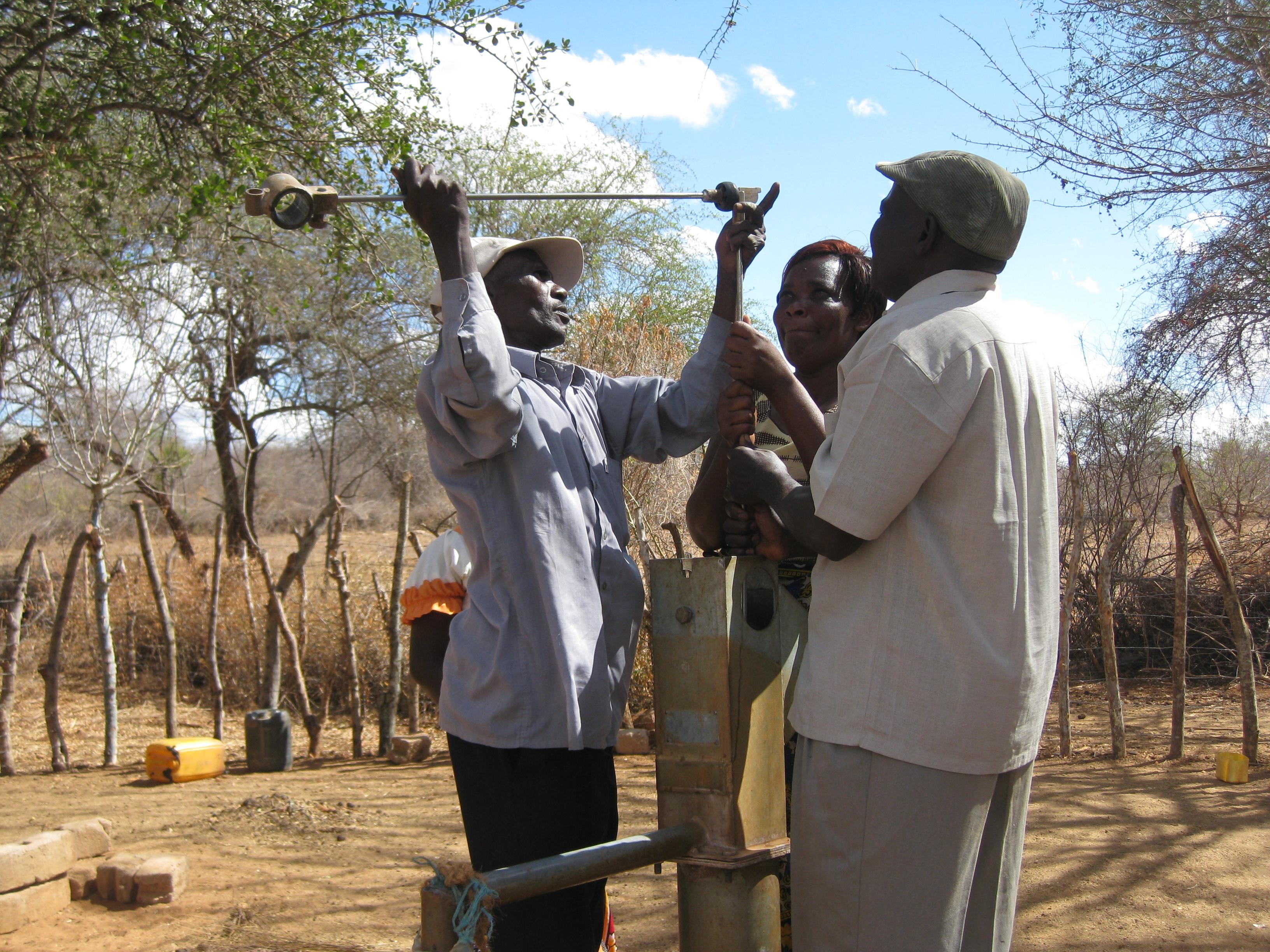 Mwaniki fixing a pump